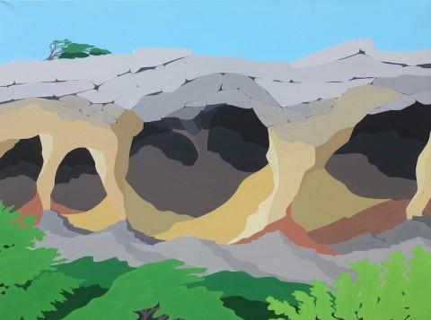 Bonaire schilderij: Oude kust