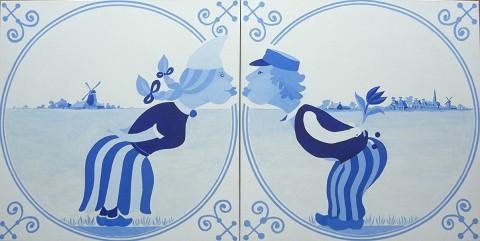 Overige schilderijen: Delft blue