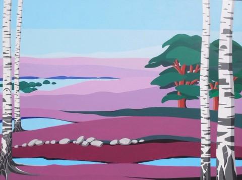 Nederlands landschap schilderij: Dwingelderveld (1)
