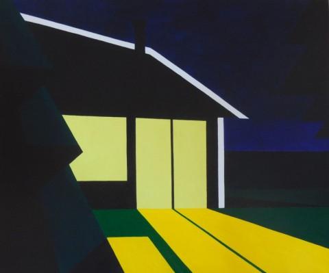 Nederland schilderij: huisje 114