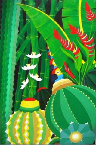 Overige schilderijen: Papegaaienfamilie