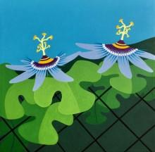 Bonaire schilderij: Wilde passiebloem