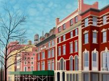 New York schilderij: W 90th St & West End Av