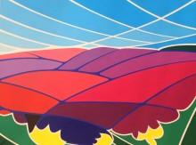Drie keer hei (3) schilderij 'Dwingelderveld 3', acryl op doek, 60x80 cm
