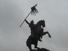 Kunstdieren - het paard (1) het paard van Willem de Veroveraar bij het kasteel in Falaise
