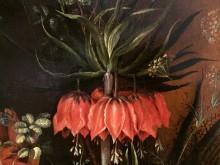 Bloemen en bijtjes (2) detail 2 van Roelant Savery: 'Groot bloemstuk met keizerskroon'