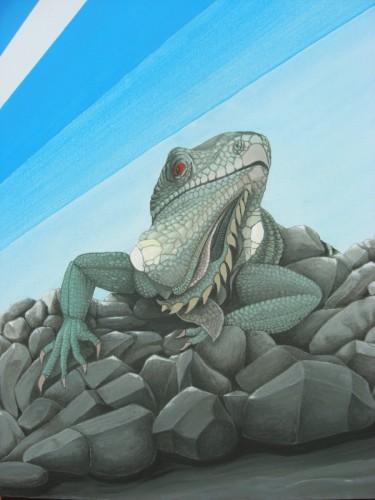 Bonaire schilderij: Iguana
