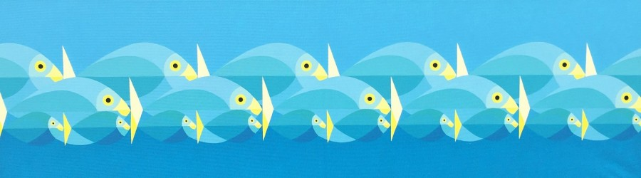 Bonaire schilderij: Perpetuum (3) paneel 1