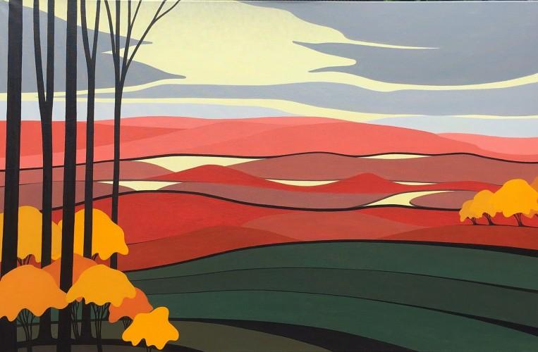 Nederlands landschap schilderij: Dwingelderveld 6