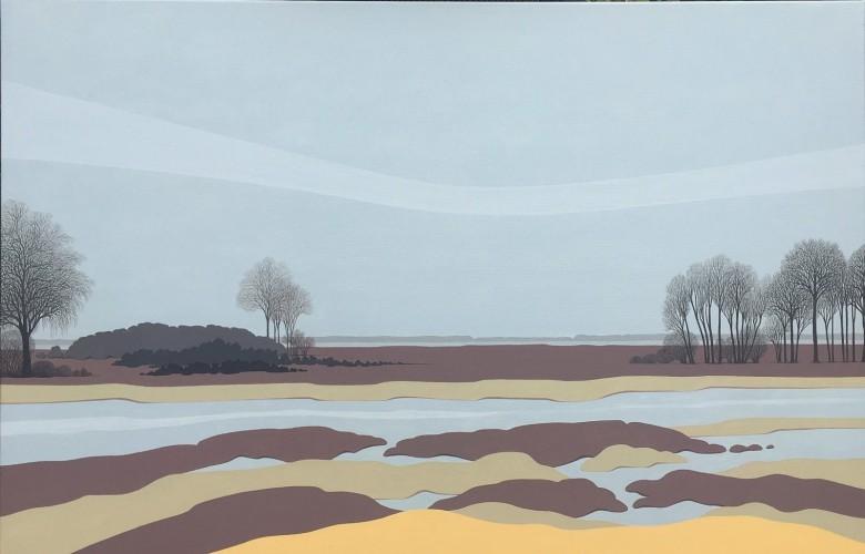 Nederlands landschap schilderij: Dwingelderveld (9)