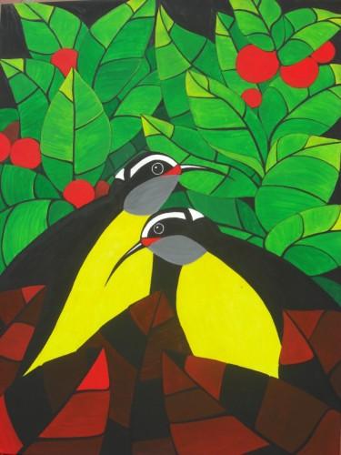 Bonaire schilderij: Barika hel (1)