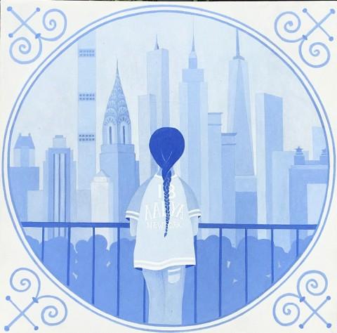 Overige schilderijen: Delft blue bis
