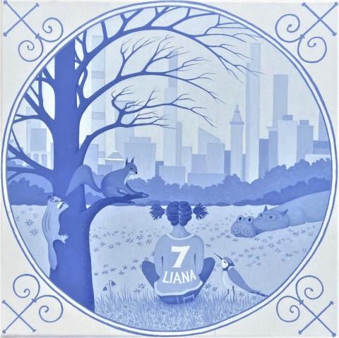 Overige schilderijen: Delft blue 3