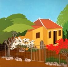 Bonaire schilderij: Nikiboko 2