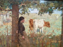 Winterkoeien (2) 'Het Middaguur', George Henry
