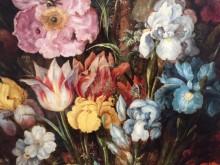 Bloemen en bijtjes (1) detail 1 van Roelant Savery: 'Groot bloemstuk met keizeerskroon'
